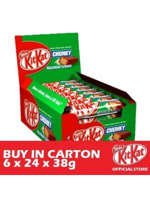 Nestle KitKat Chunky Hazelnut 6 x 24 x 38g