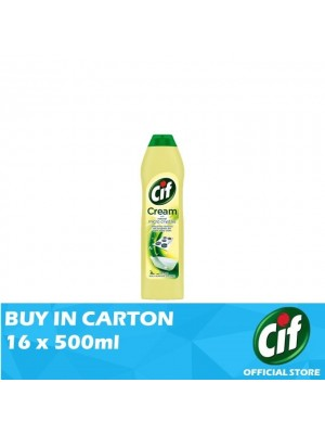 Cif Cream Lemon Multi Surface Cleaner 16 x 500ml