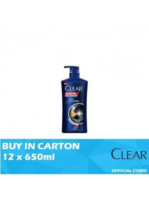 Clear Men Shampoo Deep Cleanse 12 x 650ml