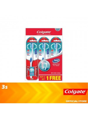 Colgate 360 Sensitive Pro Relief Toothbrush Ultra Soft Valuepack 3s