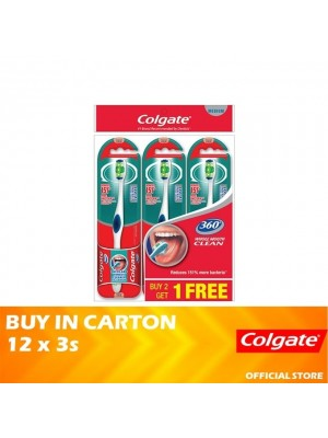Colgate 360 Whole Mouth Clean Toothbrush Medium Valuepack 12 x 3s