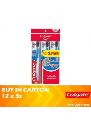 Colgate High Density Charcoal Toothbrush Ultra Soft Valuepack 12 x 3s