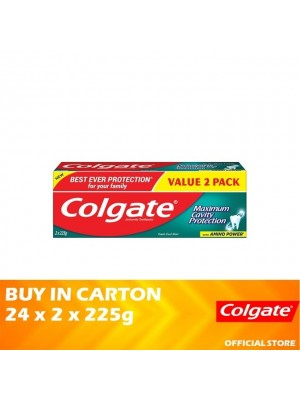 Colgate Maximum Cavity Protection Fresh Cool Mint Toothpaste 24 x (Value Pack 2 x 225g)