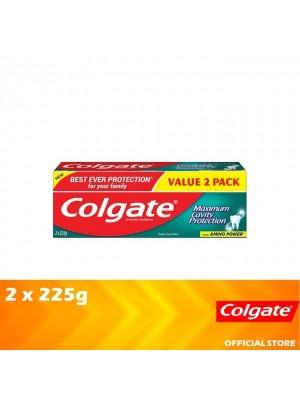 Colgate Maximum Cavity Protection Fresh Cool Mint Toothpaste Valuepack 2 x 225g