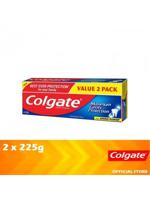 Colgate Maximum Cavity Protection Great Regular Flavour Toothpaste Valuepack 2 x 225g