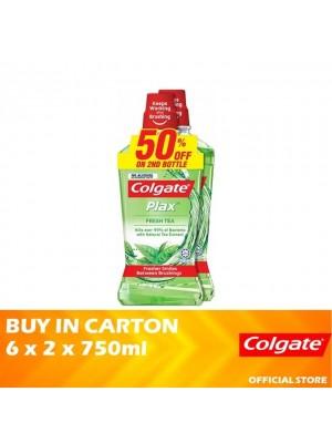 Colgate Plax Fresh Tea Mouthwash Valuepack 6 x 2 x 750ml