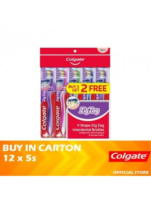 Colgate ZigZag Toothbrush Soft Valuepack 12 x 5s