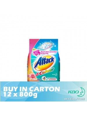 Attack Powder Detergent Concentrate Colour Ultra (ATC) 12 x 800g