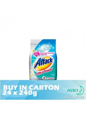 Attack Powder Detergent Concentrate Colour Ultra (ATC) 24 x 240g