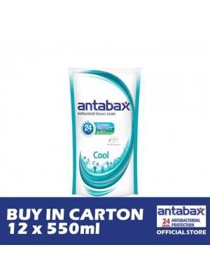 Antabax Anti-Bacterial Shower Gel - Cool Refill 12 x 550ml