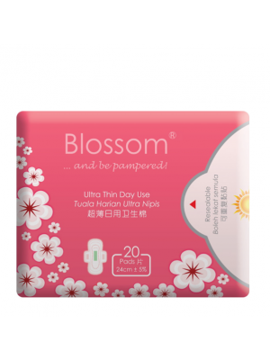 Blossom Day Use Ultra Thin Wing -Cottony Surface 20's