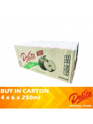 Delite Asian Drink Apple 4 x 6 x 250ml