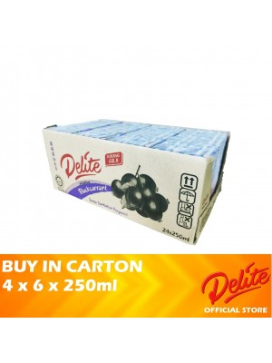 Delite Asian Drink Blackcurrant 4 x 6 x 250ml