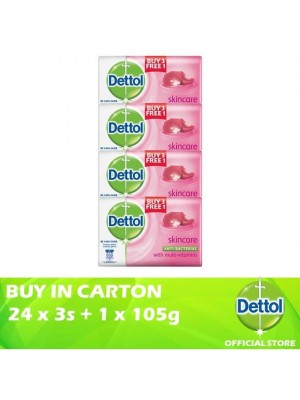 Dettol Body Soap Skincare 24 x 3+1 x 105g