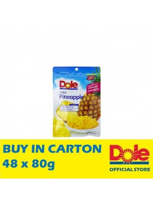 Dole Dried Pineapple Chunks in Pillow Pouch 48 x 80g
