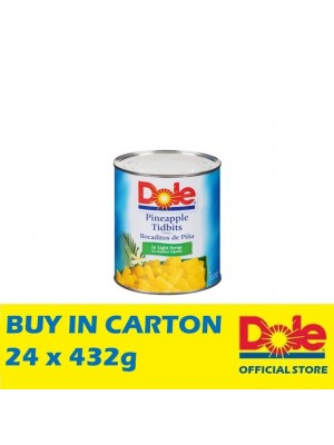 Dole Pineapple Tidbits in Extra Light Syrup 24 x 432g