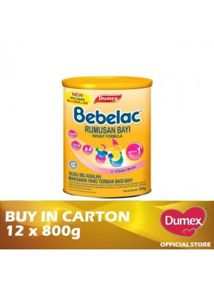 Dumex Bebelac 1 Infant Formula Milk Powder 0 – 12 Bulan 12 x 800g