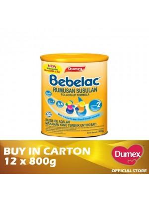 Dumex Bebelac 2 Milk Powder 6 – 36 Bulan 12 x 800g