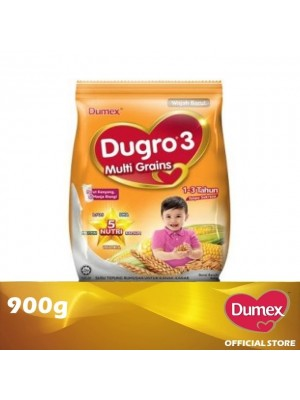 Dumex Dugro 3 Multi Grains Milk Powder 1 – 3 Tahun 900g