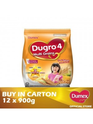 Dumex Dugro 4 Multi Grains Milk Powder 3 - 6 Tahun 12 x 900g