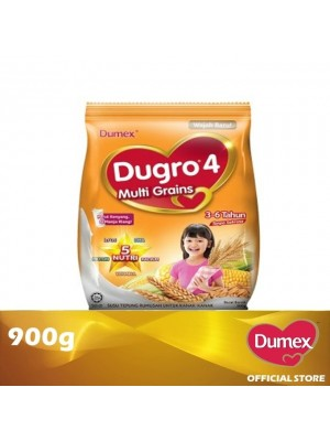 Dumex Dugro 4 Multi Grains Milk Powder 3 - 6 Tahun 900g