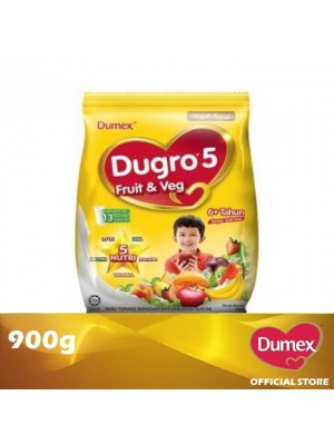 Dumex Dugro 5 Fruit & Veg Milk Powder 6+ Tahun 900g