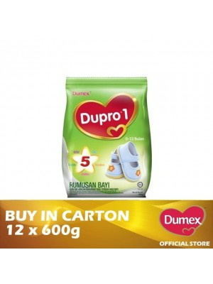 Dumex Dupro 1 Infant Formula Milk Powder 0 – 12 Bulan 12 x 600g