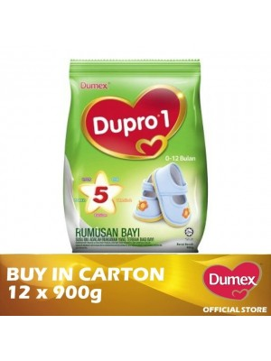 Dumex Dupro 1 Infant Formula Milk Powder 0 – 12 Bulan 12 x 900g