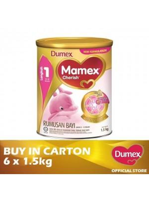 Dumex Mamex Cherish 1 Infant Formula Milk Powder 0 -2 Bulan 6 x 1.5kg