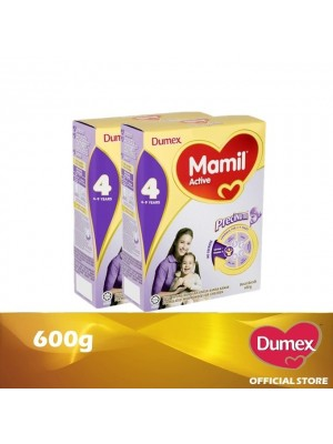 Dumex Mamil Active 4 Milk Powder 4 - 9 Tahun Twin Pack 600g