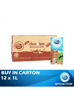 Dutch Lady UHT Pure Farm Chocolate 12 x 1L [Essential]