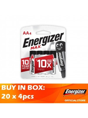 Energizer Max AA Alkaline Batteries 20 x 4pcs