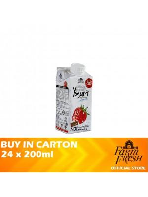 Farm Fresh UHT Strawberries Yogurt Drink 24 x 200ml