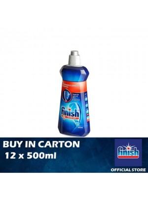 Finish Rinse Aid Shine & Dry Dishwasher Cleaner 12 x 500ml