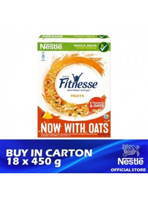 Nestle Fitnesse & Fruits with Oat Breakfast Cereal 18 x 450g