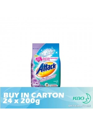 Attack Powder Detergent Plus Softener Floral Romance (ATSV) 24 x 200g