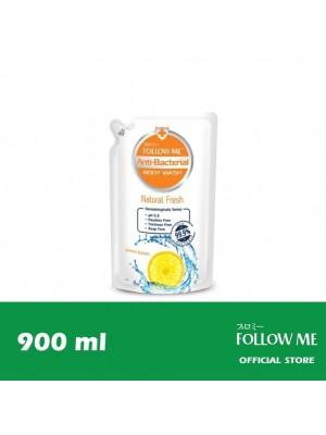 Follow Me Anti-Bacterial Body Wash Refill - Natural Fresh 900ml