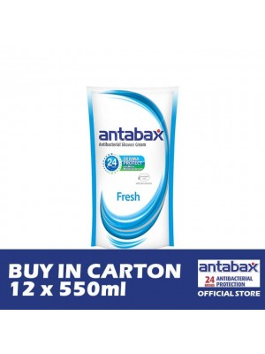 Antabax Anti-Bacterial Shower Gel - Fresh Refill 12 x 550ml
