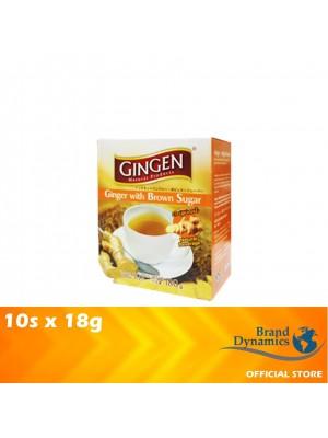 Gingen Ginger Drink Instant Ginger With Brown Sugar 10s x 18g