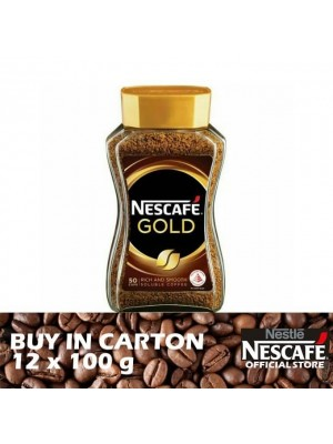 Nestle Nescafe Gold Jar 12 x 100g