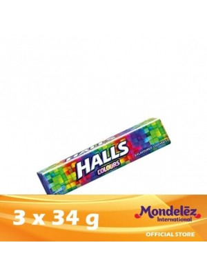 Halls Stick Candy  Colors 3 x 34g (EXP : 02/2022) [MUST BUY]