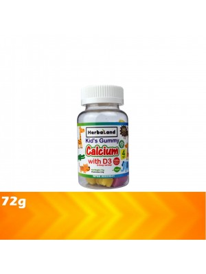 Herbaland Kid's Gummy Calcium with D3 72g [Ramdan21]