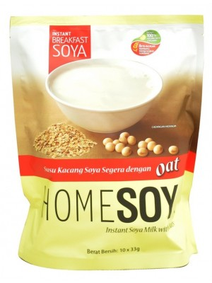 Homesoy Instant Soya Milk With Oats 10x33g