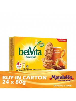 Belvita Honey & Chocolate 24 x 80g