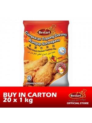 Bestari Fried Chicken Coating - Hot & Spicy 20 x 1kg [Essential]