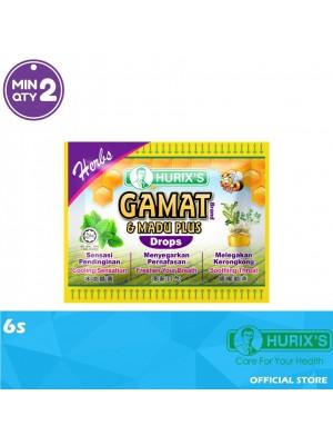 Hurix's Gamat Brand & Madu Plus Drops Herbs 6s