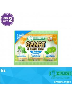 Hurix's Gamat Brand & Madu Plus Drops Lime 6s