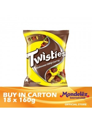 Twisties Kaboom Barbecue Curry 18 x 160g [Essential]