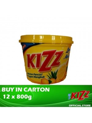 Kizz Dishwashing Paste (Lemon) 12 x 800g