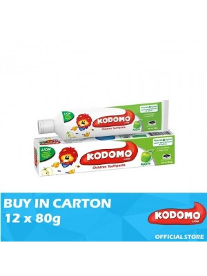 Kodomo Lion Toothpaste Apple Flavour 12 x 80g